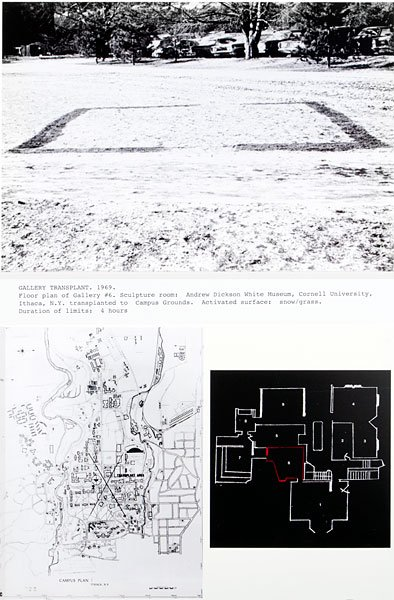 Dennis Oppenheim, Gallery Transplant 1969
