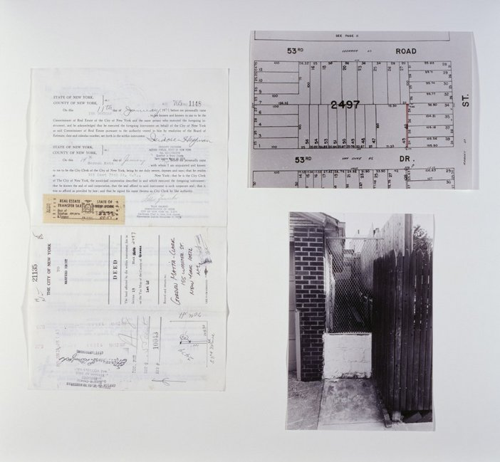 Gordon Matta-Clark, Fake Estates (Little Alley Block 2497, Lot 42) 1973