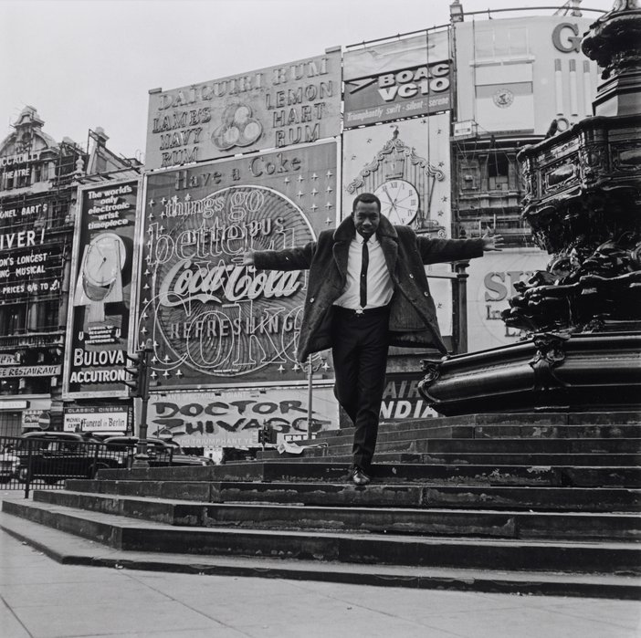 James Barnor, Mike Eghan at Piccadilly Circus, London 1967, printed 2010