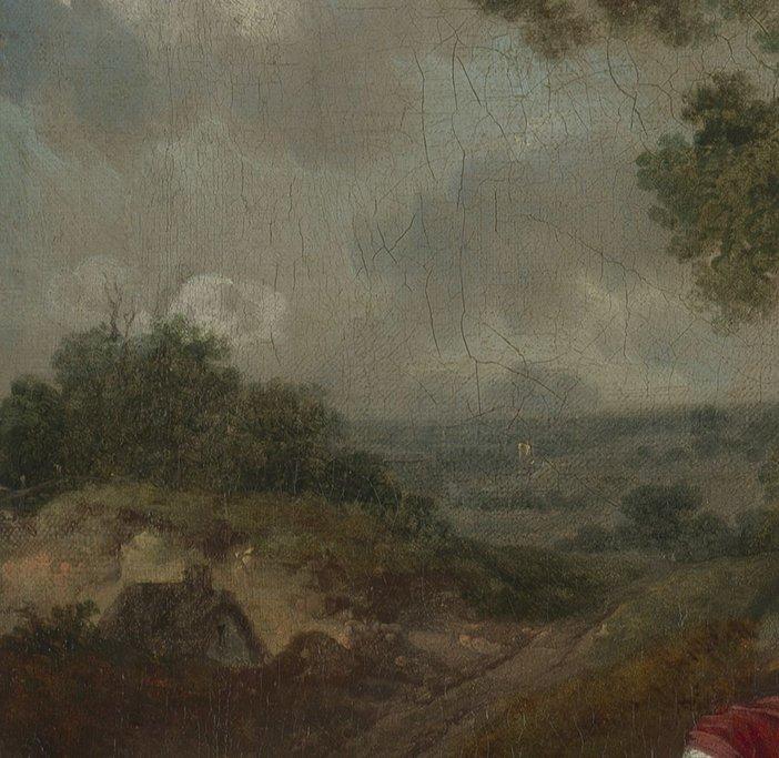 Thomas Gainsborough, Muilman, Crokatt and Keable in a Landscape, detail of the landscape