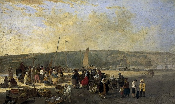 John Crome, The Fishmarket, Boulogne undated