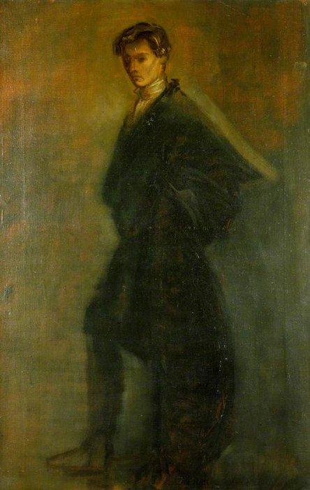 William Rothenstein Edward Gordon Craig as Hamlet 1896