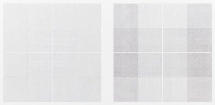 Sol LeWitt, Wall Drawing 1: Drawing Series II 18 (A & B), October 1968