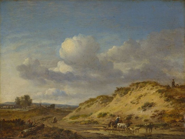 Jan Wijnants, Peasants Driving Cattle and Sheep c.1665–70