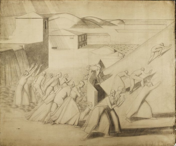 Winifred Knights, Full-scale cartoon for The Deluge 1920