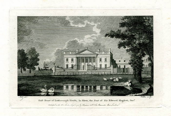John Walker after Conrad Martin Metz, East Front of Luxborough House, in Essex, the Seat of Sir Edward Hughes, Bart. 1788