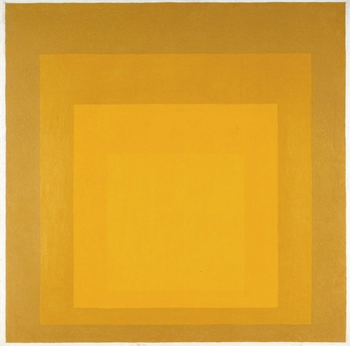 Josef Albers, Study for Homage to the Square: Departing in Yellow 1964