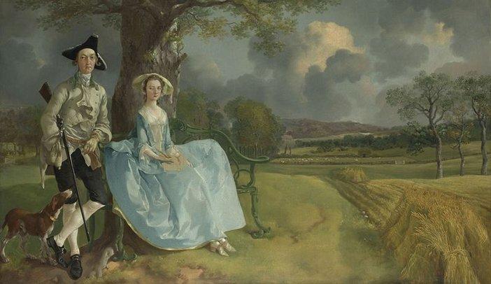 Thomas Gainsborough, Mr and Mrs Andrews c.1750