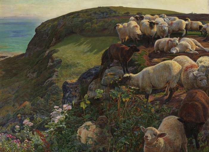 William Holman Hunt, Our English Coasts ('Strayed Sheep') 1852