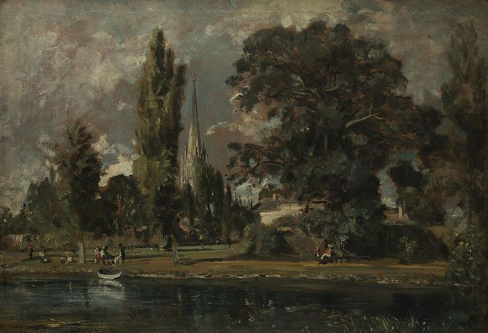 John Constable Salisbury Cathedral and Leydenhall from the River Avon 1820