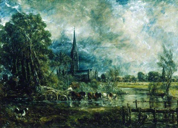 John Constable Salisbury Cathedral, Wiltshire, from the Meadows c.1829–31