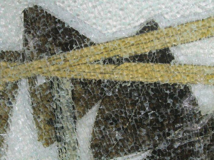 Detail of damaged lower panel taken on 20 June 2012