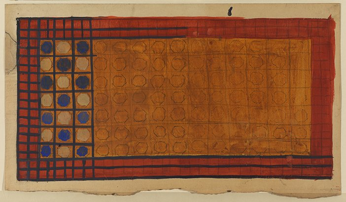 Attributed to Vanessa Bell Rug design, undated