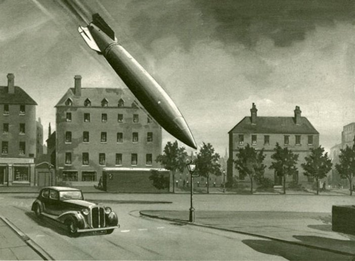 Roland Davies, V2 Rocket Falling on a London Street