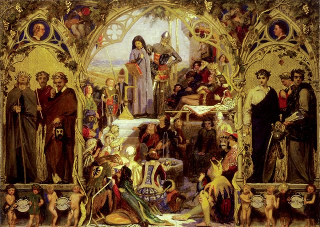 Ford Madox Brown, The Seeds and Fruits of English Poetry