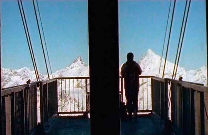 Film stills from Armin Linke video installation Alpi Film Project