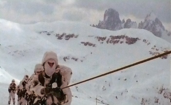 Film stills from Armin Linke video installation Alpi Film Project D