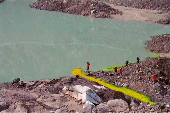 Film stills from Armin Linke video installation Alpi Film Project G