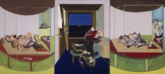 Francis Bacon Triptych of 1967, inspired by TS Eliot's verse drama 'Sweeney Agonistes'