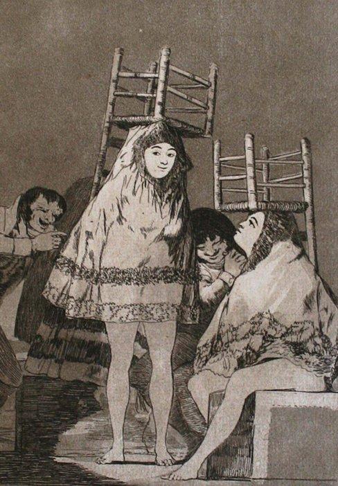 Francisco de Goya y Lucientes Ya tienen Asiento, Plate 26 from Los Caprichos 1799