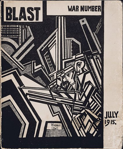 Front cover of the Vorticist manifesto BLAST II, July 1915.