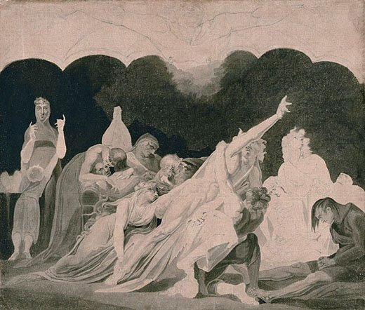 Henry Fuseli The Vision of the Lazar House (Die Vision des Elendsspitals)