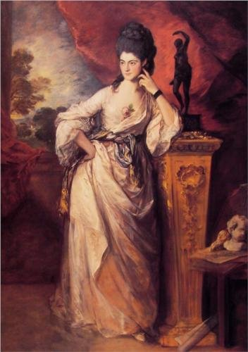 Thomas Gainsborough Lady Ligonier 1771 oil on canvas 236x 155 cm