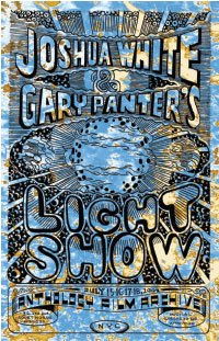 Gary Panter Poster for the Joshua White/Gary Panter lightshow performance 15 to 18 July 2004