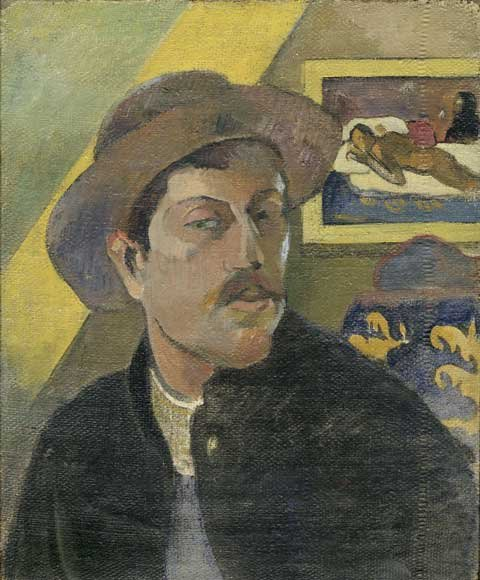 Gauguin Self-portrait with Manao