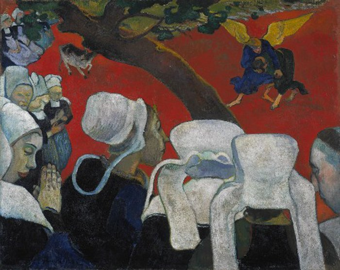 Paul Gauguin Vision of the Sermon/Jacob Wrestling with the Angel