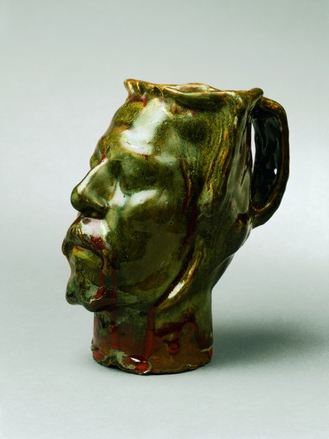 Gauguin self-portrait vase in the form of a severed head