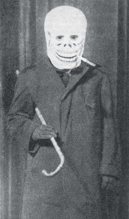 George Grosz as Dada Death in Berlin 1918