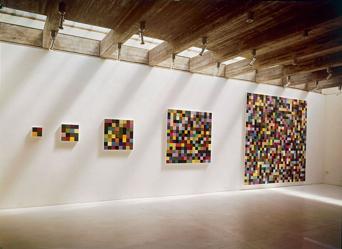 Gerhard Richter 4 and 16 and 256 and 1024 installation view