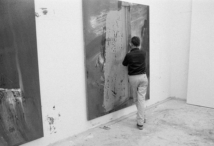 Gerhard Richter in his studio photographed by Benjamin Katz