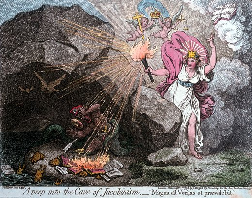 James Gillray A Peep into the Cave of Jacobinism