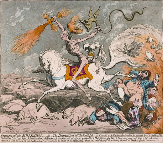 James Gillray Presages of the Millennium