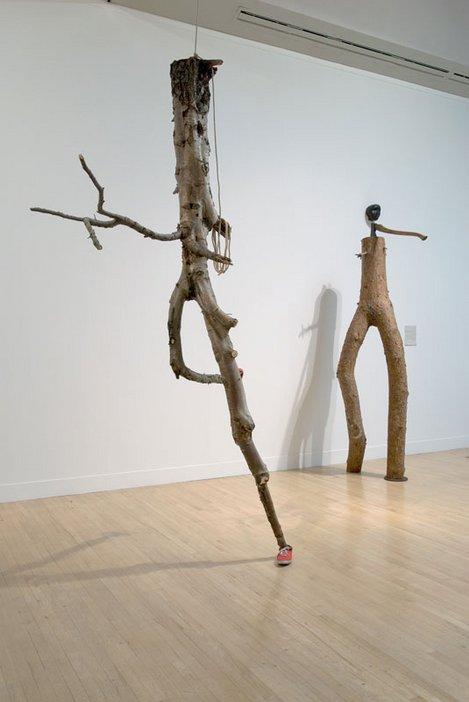 Goshka Macuga Boy and Girl installed at Tate Britain 2007