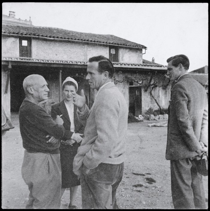 Graham Sutherland's first meeting with Picasso at the Vallauris Pottery in 1947, photographed by Tom Driberg