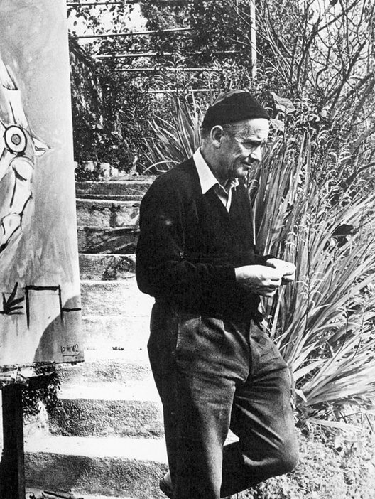 Graham Sutherland in his garden in Menton, South of France, c.1962