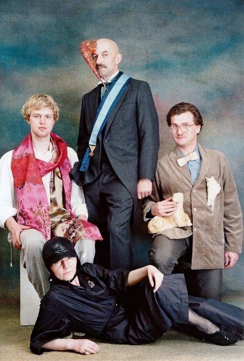 Group portrait of Piotr Uklanski Monika Szwajewska Marek Konieczny and Cezary Bodzianowski