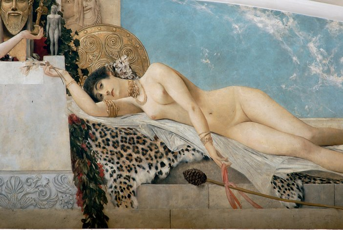 Gustav Klimt Detail of Altar of Dionysus, painted for the Burgtheater, Vienna, 1886–8