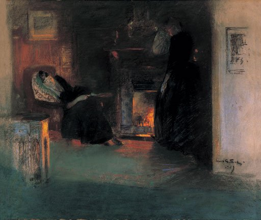 James Guthrie Fire Light Reflections 1890