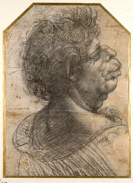 Leonardo Da Vinci, A Grotesque Head 1502