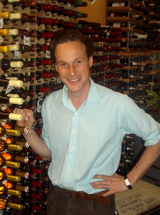 Tate's wine buyer Hamish Anderson in a wine cellar