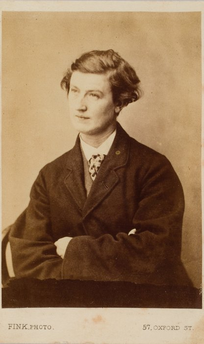 Hannah dressed in men's clothes Studio photograph commissioned by Arthur Munby of Hannah Cullwick early 1860s