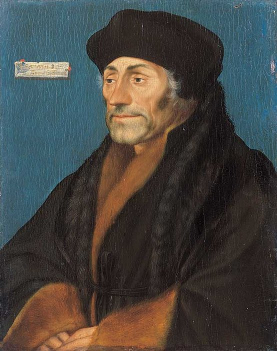 Hans Holbein the Younger Erasmus of Rotterdam 1523