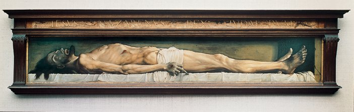 Hans Holbein the Younger The Body of the Dead Christ in the Tomb 1521