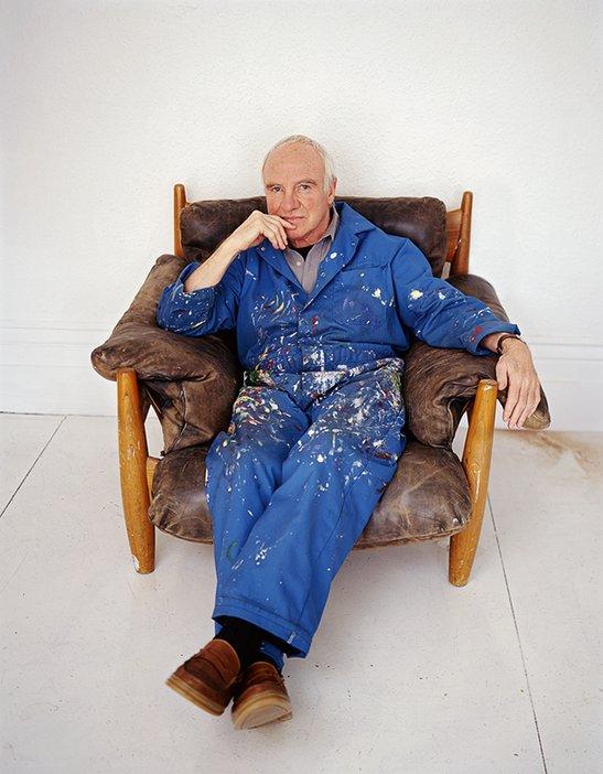 Patrick Caulfield portrait by Jillian Edelstein 1999