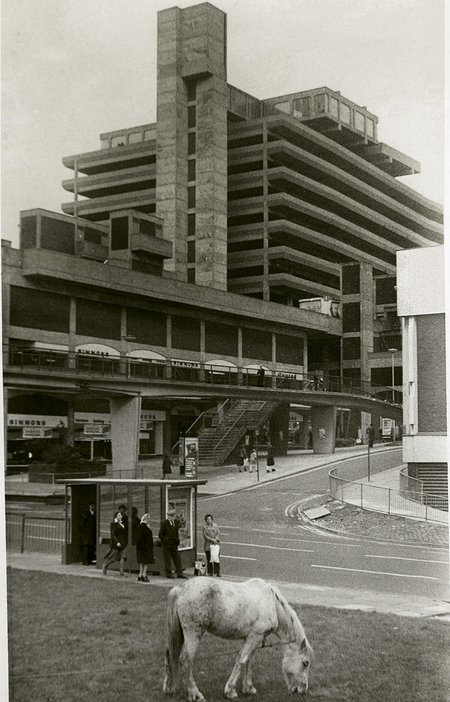 Owen Luder Trinity Square car park in Gateshead known as the Get Carter car park after use in the film starring Michael Caine Demolished 26 July 2010