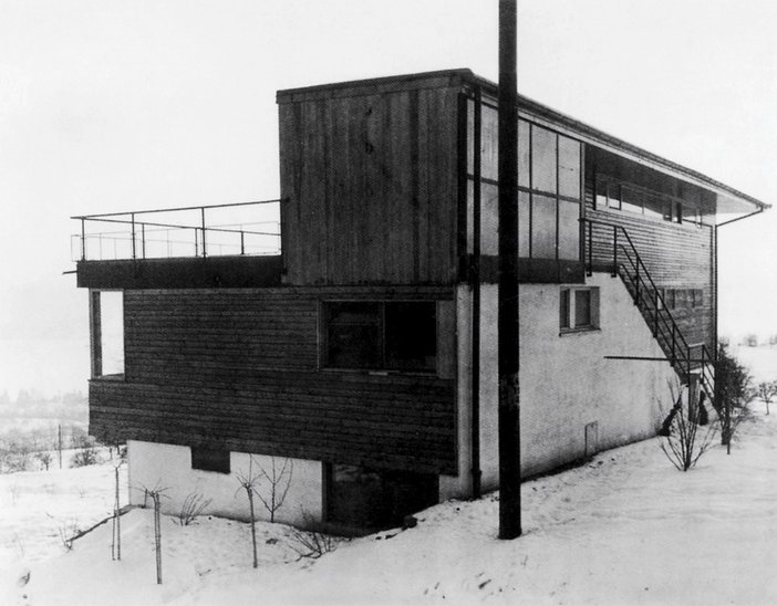 Haus Schlehstud, where Peter Fischli grew up in Meilen, Switzerland, designed and built by his father Hans